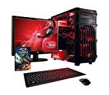VIBOX Cerberus Gaming PC Computer Paket 1 - mit WarThunder Spiel Bundle (4.4GHz Intel Dual Core CPU, Nvidia GTX 750Ti Grafikkarte, 1TB Festplatte, 120GB SSD, 8GB RAM, Kein Betriebssystem)