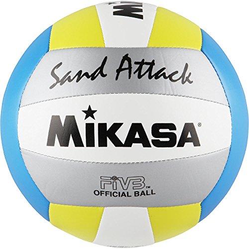 Mikasa Sand Attack Größe 5 Blau (blau-gelb-Silber) Mikasa Sand