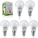 Liqoo® 6 x E14 7W Bombilla LED Lámpara Aluminio y Plástico Blanco Neutral Natural 4500K AC 220-240V Ángulo de haz 270° 580 Lumen No Dimmable Sustituye la lámpara Halógena de 45W