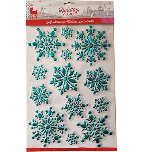 zchg Fenster-Dekoration, Weihnachts-Schneeflocken-Aufkleber, DIY, Schneeflocke, Fenster-Aufkleber-Set