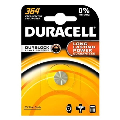 DURACELL D364BPK Watch / Electronic Battery, 1.5 Volt Silver Oxide by Duracell (English Manual)