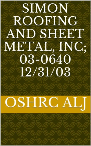 Simon Roofing and Sheet Metal, Inc; 03-064012/31/03 (English Edition)