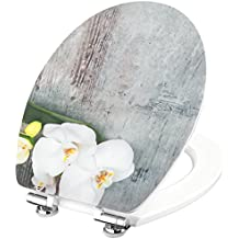 Cornat WC-Sitz Orchis Hochglanz-Acryloberfläche mit Absenkautomatik, Schnellbefestigung, 1 Stück, KSDSC309