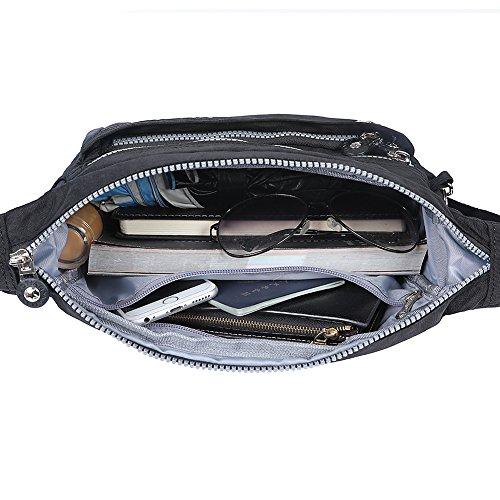 EGOGO donne borse a spalla borsa a tracolla muliti tasche borsetta E303-5 (Rosso)