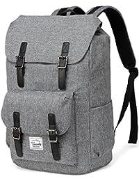 Vaschy Casual Backpack Backpack Men Camping Rucksack Daypack Teen School Backpack Backpack for 15.6in Laptop Black