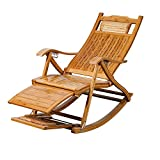 QFFL Schaukelstuhl Home Freizeit Bambus Schaukelstuhl Mittagspause Recliner Collapsible Teleskop-Sofa Outdoor Hocker
