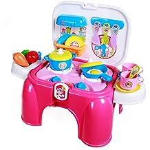 SGILE Playset del Giocattolo di Cucina per Bambini Finta di
