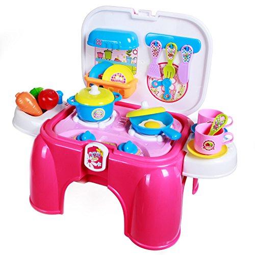 Preisvergleich Produktbild SGILE Küche Spielset Spielzeug Kitchen Playset Rollenspiele Küchenspielzeug Kochgeschirr und Lebensmittel