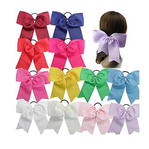 WINOMO Girl Bowknot Hair Rope Hair Bows Elastic Hair Tie