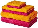 Solimo 100% Cotton 6 Piece Towel Set, 50...