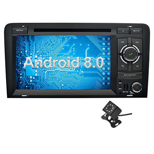 Ohok 7 Pulgadas 2 DIN Autoradio Android 8.0 GPS Navegador Reproductor DVD...