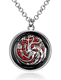Dragons on the wall- Game of Thrones 100% Stainless Steel Pendant for Boys and Men by YELLOW CHIMES
