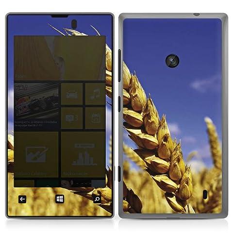 Nokia Lumia 520 Case Skin Sticker aus Vinyl-Folie Aufkleber Landschaft Kornfeld Ähre