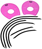 Arena Elite Hand Paddles - Rosa/Nero - Large