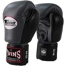 TWINS Boxhandschuhe, BGVL-3, grau-schwarz, Boxing gloves, Leather, Muay Thai