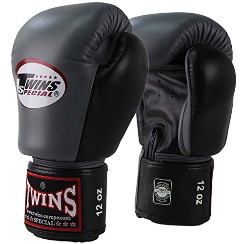 BGVL-3, grau-schwarz, Boxing gloves, Leather, Muay Thai Size 10 Oz ()