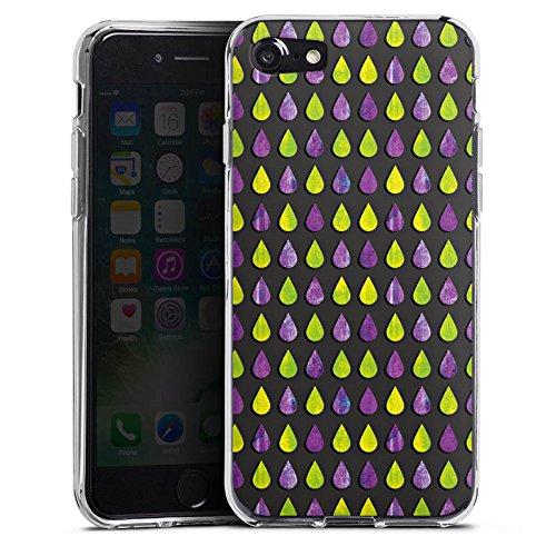 Apple iPhone X Silikon Hülle Case Schutzhülle Regen Tropfen Muster Silikon Case transparent