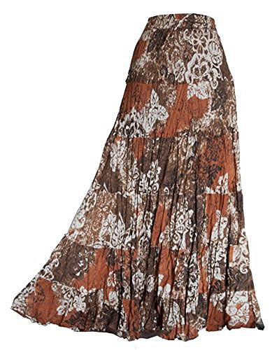ladies-long-100-crinkle-cotton-tiered-hippy-boho-gypsy-skirt-with-internal-petticoat-chinese-brown