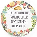 24 PERSONALISIERTE runde Etiketten mit Motiv: Goldene Eheringe - Ihre Aufkleber online selbst gestaltet, ganz individuell