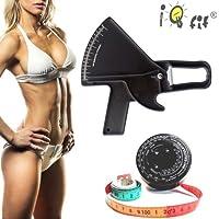 slimguide bmi Paquete profesional Negro: calibrador de grasa corporal + Cinta métrica de BMI + software cd