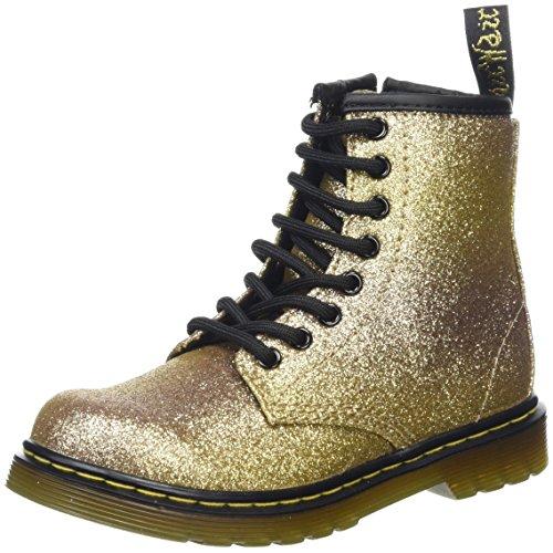 Dr. Martens Unisex-Kinder Delaney GLTR Gold Multi Glitter Pu Stiefel, 29 EU