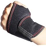 Dreshow® Support de poignet réglable pour l'arthrite, taille unique, noir, Homme mixte femme, Black+1PCS, Normal