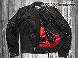 4LIMIT Sports Herren Motorradjacke Leder STREETBANDIT Biker Rocker Motorrad Jacke Lederjacke matt...