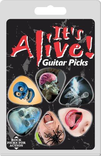 guitar-plectrum-pack-its-alive-design-6-picks