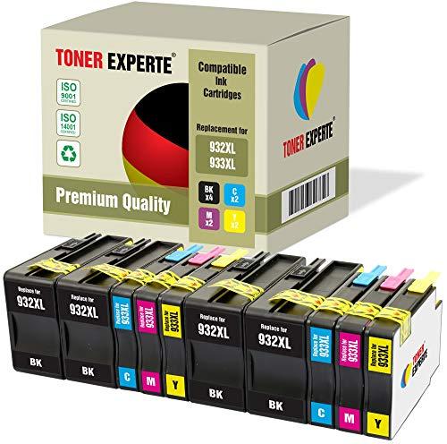 10 XL TONER EXPERTE Sostituzione per HP 932 933 XL 932XL 933XL Cartucce d'inchiostro compatibili con HP Officejet 6600 6700 7110 7610 7612 7620 6100 7510 7600 (4 Nero, 2 Ciano, 2 Magenta, 2 Giallo)