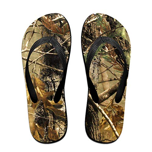 Realtree Camouflage Camo Unisex Adults Casual Flip-Flops Sandal Pool Party Slippers Bathroom Flats Open Toed Slide Shoes Medium -