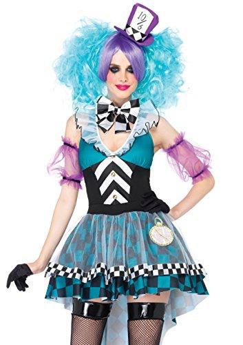 Womans Kostüme Mad Hatter (Leg Avenue 85227 - Manic Mad Hatter Kostüm Set, 4-teilig, Größe M,)
