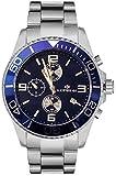 Montre Lorenz Chronographe 030049AA Homme Acier Bleu sub 100mt
