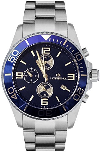 Reloj LORENZ Cronógrafo 030049AA Hombre Acero Azul Sub 100Mt