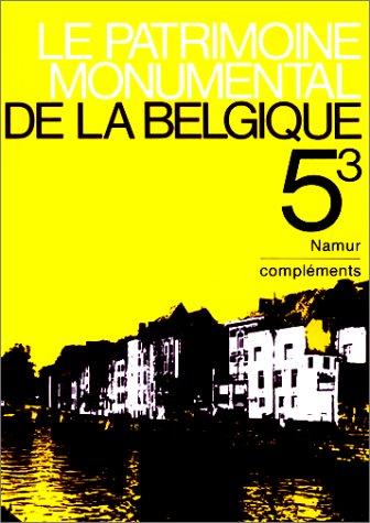 Complément Namur, tome 5, volume 3 par Collectif