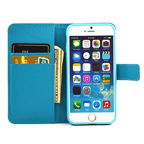 iphone 7 Plus Housse, SHANGRUN Conception de Modèle Magnétique Function PU Cuir Flip Housse Étui Wallet Portefeuille Supporter avec Carte de Crédit Fentes Cover Case pour iPhone 7 Plus 5.5 Inch(2016)  SR11