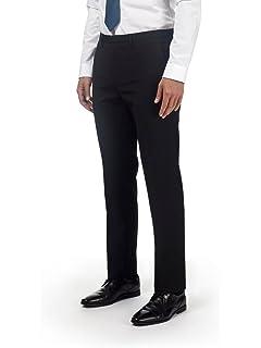 Onlyglobal Boys Slim Fit School Trousers Mens Formal Office Work Skinny Leg Pants Black UK