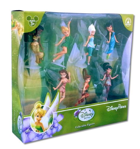 Official Disney Parks Fairies Collectable figures pack of 7 featuring Tinkerbell
