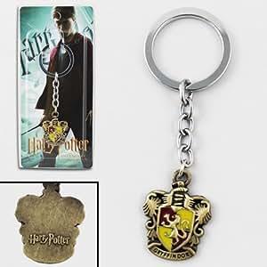 Harry Potter Gryffindor Logo Metal Key Chain/Ring NIB