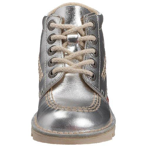 Kickers Kick Hi J, Bottines Fille Silver/Natural/Natural