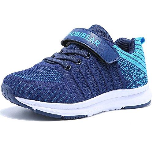 Hallenschuhe Kinder Sneaker Jungen Mädchen Laufschuhe Outdoor Sport Schuhe für Unisex-Kinder,Blau,28=17.5cm interne länge (Kinder Sportschuhe)