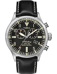 Timex Reloj Cronógrafo para Hombre de Cuarzo con Correa en Cuero TW2P64900