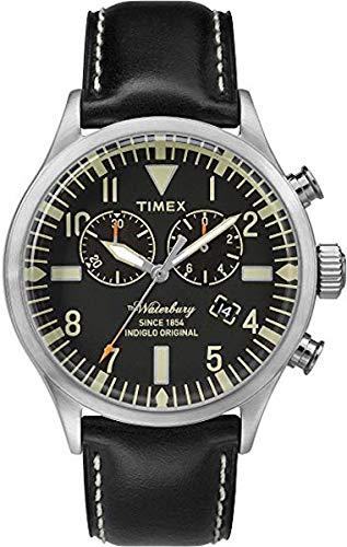 Timex Orologio Cronografo Quarzo Uomo con Cinturino in Pelle TW2P64900
