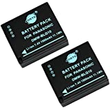 DSTE® 2pcs DMW-BLG10 Rechargeable Li-ion Battery for Panasonic LUMIX DMC-GF3, DMC-GF5, DMC-GF6, DMC-GX7 SLR Cameras