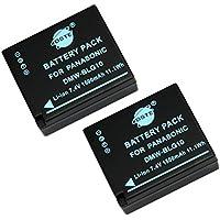 DSTE 2-Pack Rechange Batterie pour Panasonic DMW-BLG10 LUMIX DMC-GF3 DMC-GF5 DMC-GF6 DMC-GX7 DMC-LX100