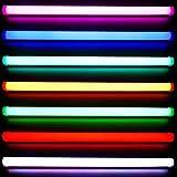 LED RGB Röhre 90cm 5050 SMD mit 10 Tasten Funk Fernbedienung 20 feste Farben 4 Programme mehrfarbig farbig Leuchstoffröhre Leuchtstofflampe Neonröhre Tube T8 Leuchte Lampe Stück 10-Tasten Funk Fernbedienung mit RGB Controller für 12V Gleichstrom Leuchtstoffröhre Neonröhre mehrfarbig farbig dimmbar 230V 12V Party Schlafzimmer Lampe Licht Farbwechsel