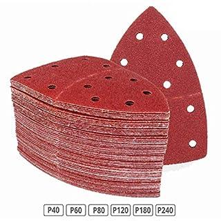 120 Stück Klett-Schleifblätter 105x152 mm Körnung je 20 x 40/60/80/120/180/240 für Multischleifer