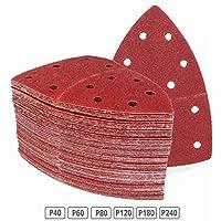 120 pieza de lija hojas 105 x 152 mm, grano 20 x 40/60/80/120/180/240 para multilijadora