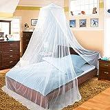 amaes Mosquitera para Cama, Protección Antimosquitos Evitar los Mosquitos, Fácil de Instalación Diseño de Cúpula, para Cama Individual, Cama Matrimonial, Hamaca y Cuna- Blanco