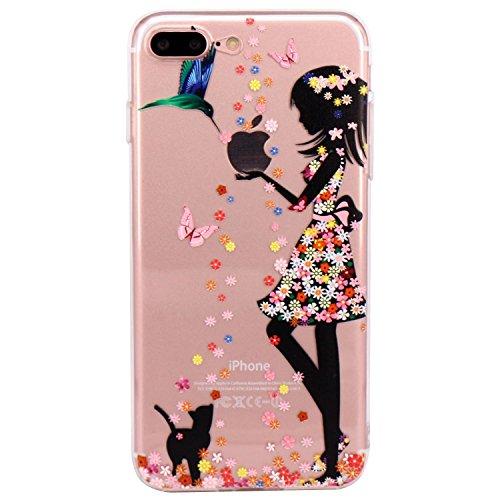 """Qissy® iPhone 7 Plus Funda,Carcasa iPhone 7 Plus Case Cover Dibujos Animados Silicona Suave Funda para Apple iPhone 7 Plus 5.5"""" (4)"""