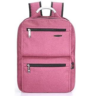Beibao Laptop Cuadrado Mochila Hombre y Mujer Estudiante Ocio Bolsas Mochilas Viajes Moda Portable Peso Ligero Capacidad Alta Respirable